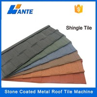 WANTE waterproof galvanized zinc aluminum coated steel roofing sheet,stone coated metal roof tile