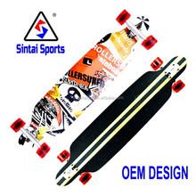 FREESTYLE Drop Through Longboard Skateboard(Professional Maple)