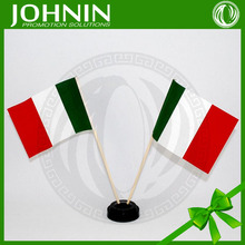 two pieces in black base custom wooden pole 14x21cm mini italy flag