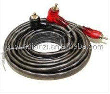 Gray Wire Copper Car Audio Wire RCA
