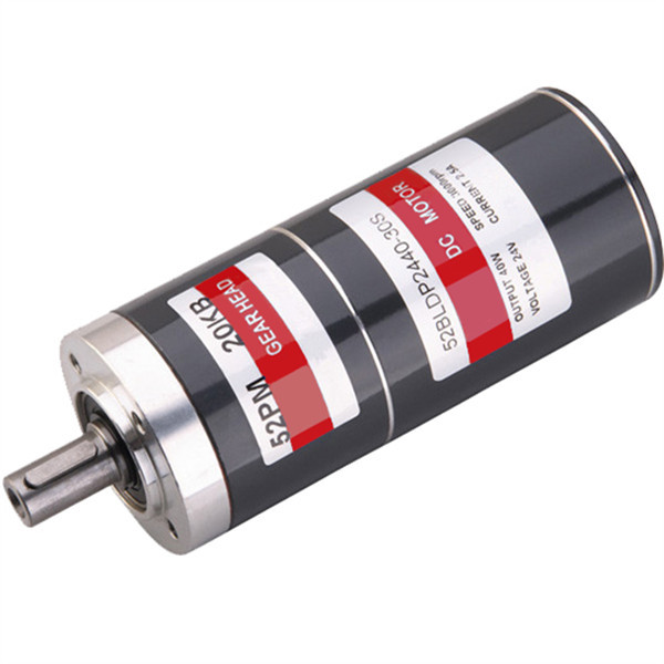 High Efficient 40W 50W 52mm BLDC brushless dc electrical motor with planetary gearbox