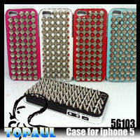 Metal frame case for iphone5 with rivet studded
