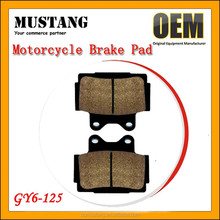 Best Semi-metallic GY6-50 GY6-125 AG100 MIO Crypton Motorcycle Brake Pads for Yamaha