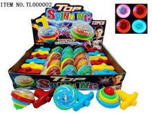 Bottom price design toy spinning wooden top