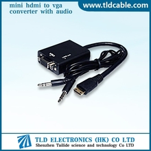 HDMI Male to VGA Female + Audio Converter Video Adapter for PC DVD