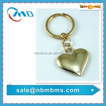 Gold Plating Heart Shape Die Cast Zinc Alloy 3D Key Holder