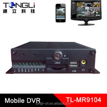 3G Mobile DVR for Bus with GPS Support DVR Client remote control