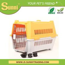 Factory wdrect wholesale foldable pet carrier on wheels