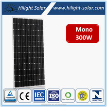Factory Price High Efficiency High Quality 300W Mono Solar Panel with TUV IEC CE CEC ISO INMETRO certificates