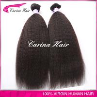 Wholesale price no tangle no shedding 100% Human Hair Cheap Brazilian Virgin Hair crochet braids with human hair