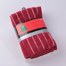 supermarket sell 80% polyester and 20% polyamide microfibre stripe cloth,microfiber stripe cleaning cloth