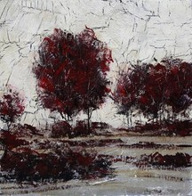 Remarkable hand painted artwork oil painting abstract tree picture