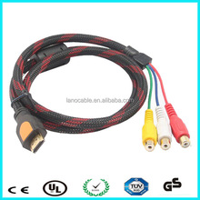 high quality 3 rca female to hdmi male audio cable