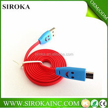 2015 newest and fashion micro data cable colorful micro usb cable for cellphone