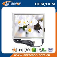 16:9 7 inch touch screen open frame VGA LCD monitor