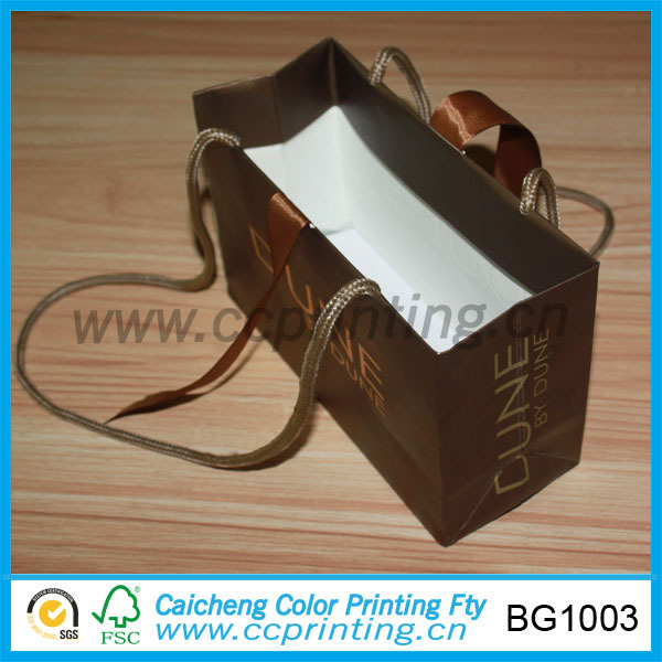 luxury paper shopping bag with company logo