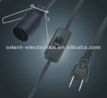 salt lamp power cord with inline switch