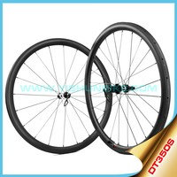 DT350 hub!! 700c carbon fiber wheels 33mm tubeless best bicycle wheels straight pull bicycle wheels carbon 350S-330T