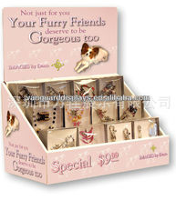 Pet/Dog Jewelry/Ornament/Necklace Cardboard Counter Displays Stand