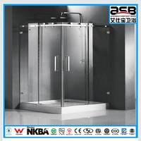 2014 carton packed shower 6mm Tempered Glass folding sliding screen