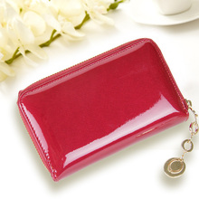 Wholesale low price high quality triple folded lady purse