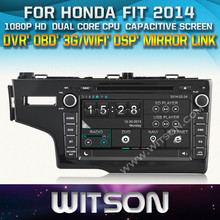WITSON CAR DVD PLAYER FOR HONDA FIT 2014 STEERING WHEEL CONTROL FRONT DVR CAPACTIVE SCREEN