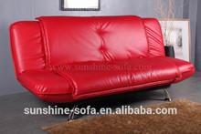 de cuero rojo de la sala sofá cama plegable