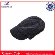 100% pure manual wool knitted cap