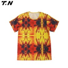 100% polyester brand fashion round neck t-shirt