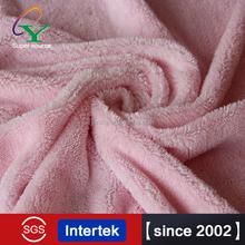 2015 100% polyester solid color shiny silk home textile super soft short pile velour fleece fabric