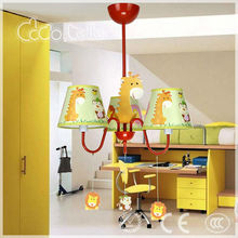 Dodobelle brand mordern colorful animal iron+PVC baby pendant light led outdoor light with 5*E14 candle light for kichen/room