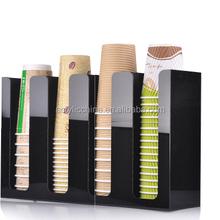 new design desktop acrylic display dixie cup storage holder