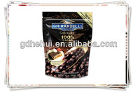 high quality stand up zip lock food packaging bag with tear notch