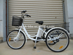 "24"" 250W 36V lithium battery electric motor tricycle bike/electric tricycle/three wheel electric motor bike"