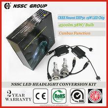 NSSC Factory Best Quality Newest XHP50 CREE car led headlight, 80w 9000 lumen led headlight dodge journey fiat freemont