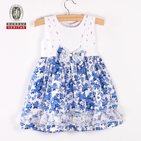 2012 new design fashion baby dress pure color baby girls flower dress