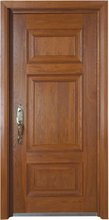 CEI high security steel armoured door with imported solid wood finish and strong steel core