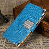 2014 new products fashion luxury bling rhinestone flip phone protector case with card holder for Samsung Galaxy S4