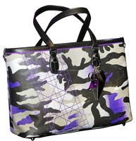 2015 NEW STYLE FASHIONABLE CAMOUFLAGE CANVAS SEMI PU/PU HANDBAG
