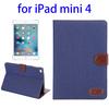 Wholesale china Denim Texture wallet smart case for ipad mini 4 tablet case