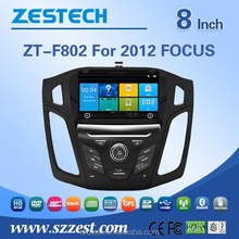 high quality touch screen radio multimedia headrest car dvd player for Ford Focus car gps navigation 2012