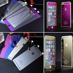 Color Mirror Front + Back Tempered Glass Screen Protector Skin for iPhone 6 6 plus
