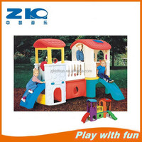 2015 kids plastic play house indoor slide with play house for children indoor play equipment