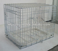five sizes sliver foldable wire pet transport cage