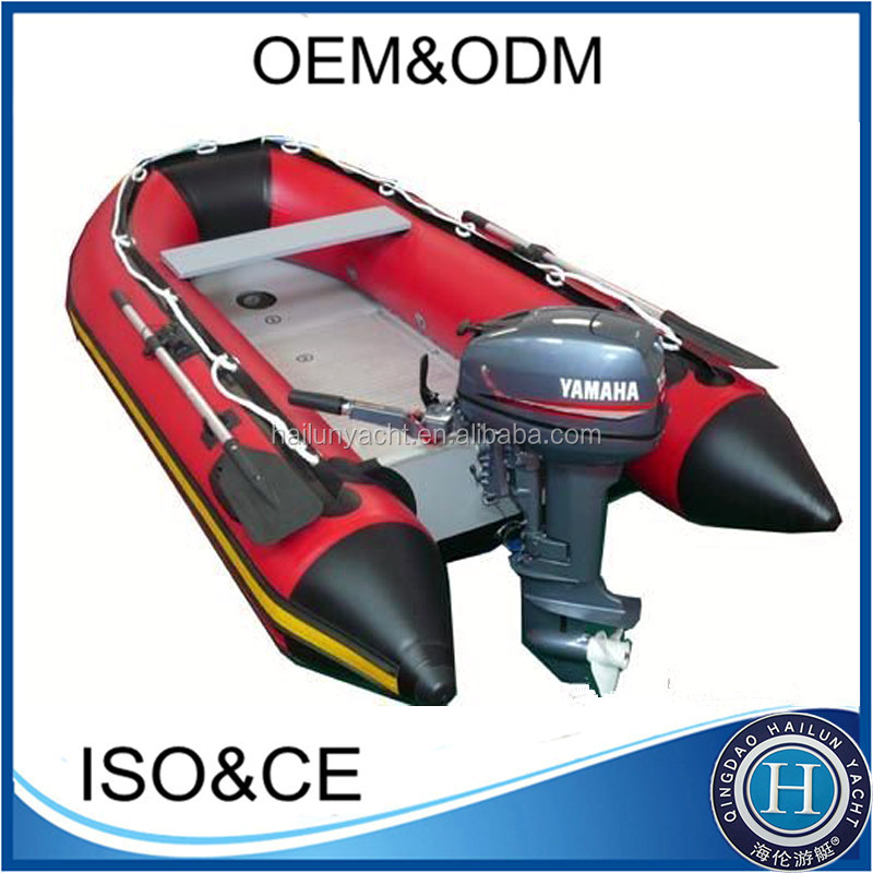 2015 popular inflatable boat with outboard motor for sale for Dinghy motor for sale