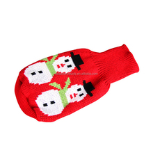 Snow Man Dog Sweater,Pet Christmas Clothes,Christmas Dog Clothes