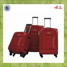 Spiner wheel designer bagage nylon material Carry on suitcase baigou bag oem 3pcs langchao brand hot sale Luggage