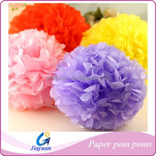 Party Outdoor Decoration Tissue Paper Pom Pom Flower Handmade Chinese Paper Crafts