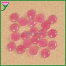 Good quality round cabochon semi precious stone opaque red glass gems , china glass gemstone