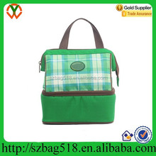 Waterproof high quality lining with aluminium foil polyester lunch cooler bag